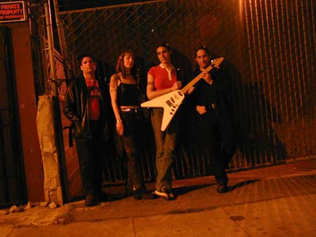 Mobius Donut band shot in alleyway in Oakland